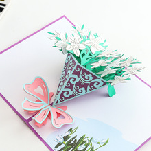 2019 wholesale 3D pop up <strong>card</strong> special souvenir gift sunflower greeting <strong>cards</strong>