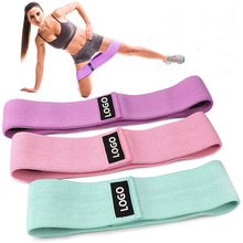 Sport Protection Custom Logo Fabric Gym Hip Loop Circle Resistance Booty Exercise Bands