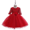 Wholesale Luxury boutique design smocked children's clothing girl fancy prom frocks small kids birthday party dress L5115