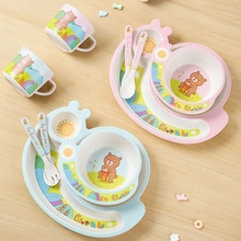 Hot Selling Custom printed bamboo fiber dinner <strong>plate</strong> for baby kids