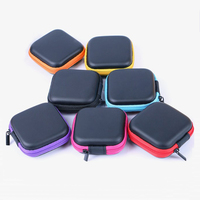 Portable Square Earphone Carrying Cases Hard EVA Earbud Case Bag for Headphones USB Cables