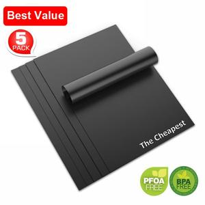 "Best price 13""x15.75"", 0.20mm, 5 pack Non-stick BBQ Sheet / Grill Mat"