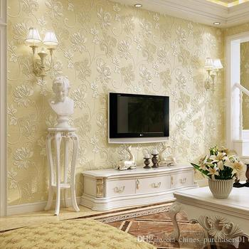 Hot Sale 3d European Pastoral Style Wallpaper Bedroom Living Room TV Background Nonwovens Wallpapers Free Shipping