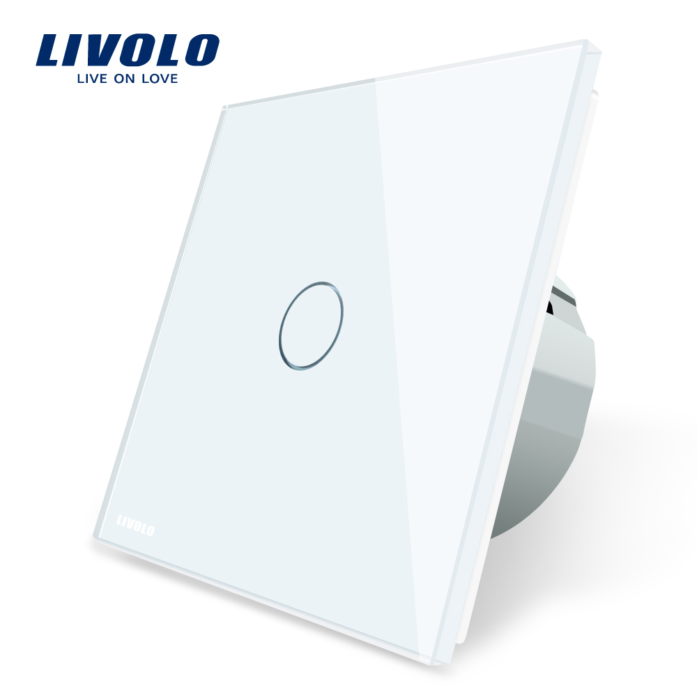 Livolo VL- C701-11 EU Standard 1 Gang 1 Way Touch Screen Smart Wall Automation <strong>Switch</strong>