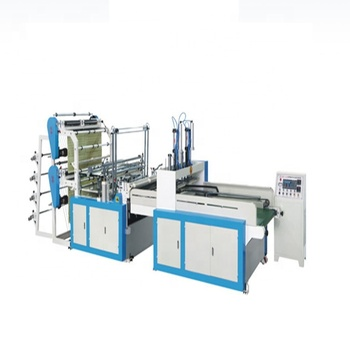 Full Automatic Double Layer Four Lines Cold Cutting Heat Sealing Bag Making Machine Price