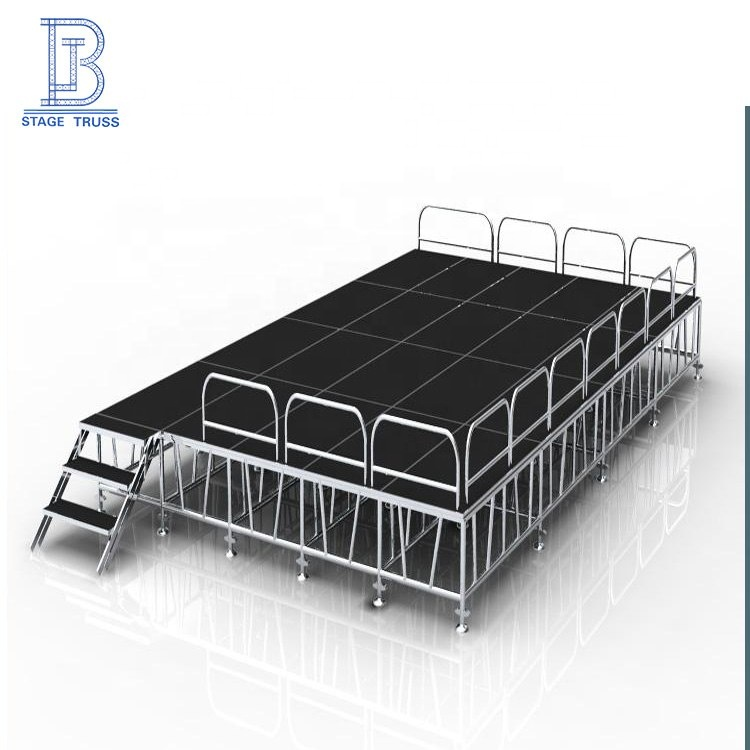 Chinese manufacturer aluminum square <strong>stage</strong> for mobile <strong>stage</strong> for show