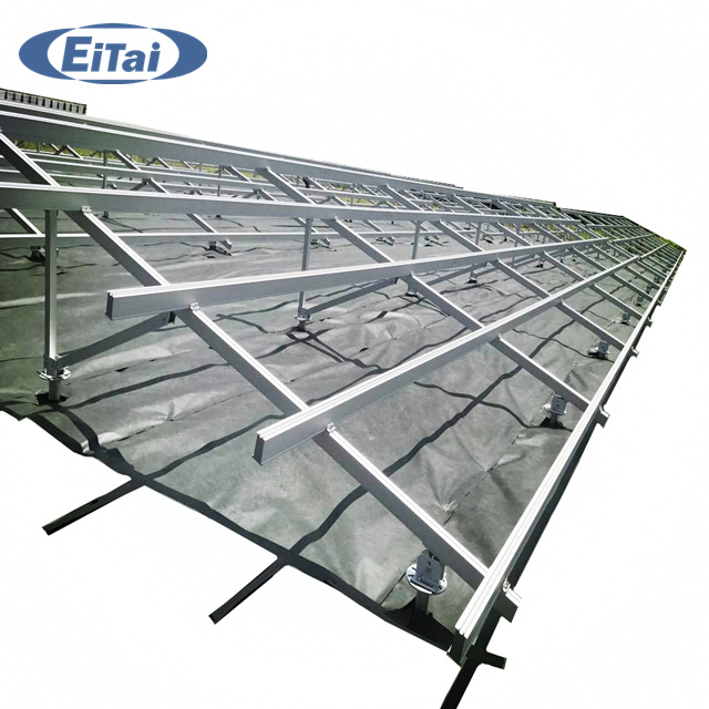 Eitai Aluminum PV Brackets Rail Solar Mounting Kit Adjustable Brackets