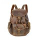 handmade real full grain crazy horse drawstring girls backpack genuine cow leather backpack for women