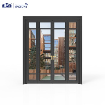 Aluminum solid wooden door  window  teak wood main door designs