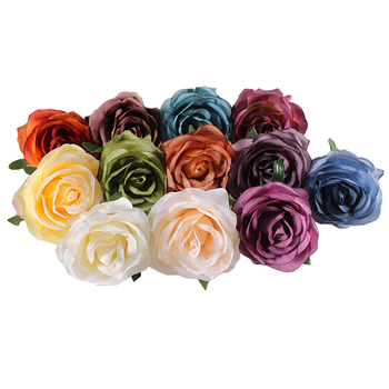 Artificial flower of rose flower head for floral arranging and wedding flower wall