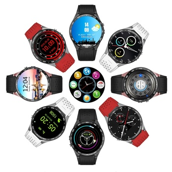 Heart rate monitor 3G Android GPS Caller ID display SMS Google Play Kingwear Kw88 Smartwatch WiFI