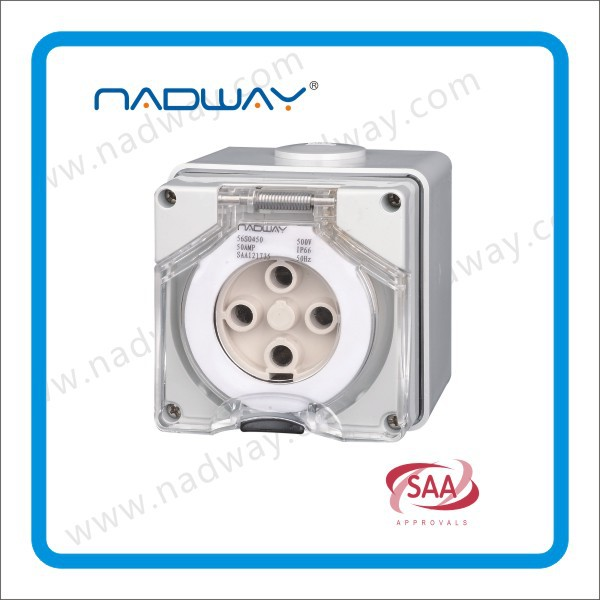 56SO610 socket outlets 500v 10A 6 round pins Electrical socket