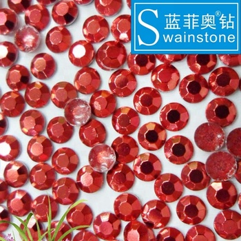S0811  red 3mm 4mm 5mm 6mm hotfix stones transfer rhine studs hot selling wholesale hot fix octagon crystal designs for garment