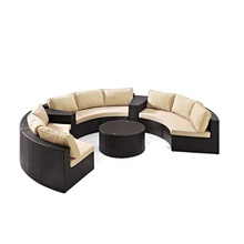wicker rattan round sofa set outdoor <strong>furniture</strong> S211