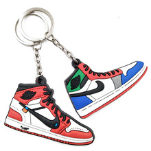 2D 3D Mini Yeezy Air Jordan Basketball Running Sneaker Shoes Keychain For Nike