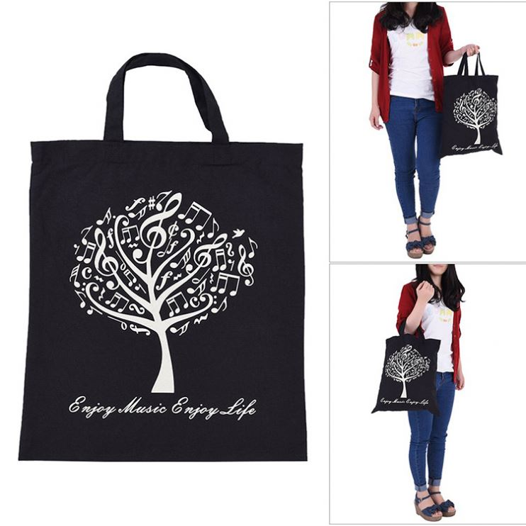 large tote fabric Eco reusable <strong>promotion</strong> 100% cotton shopping bag with zipper