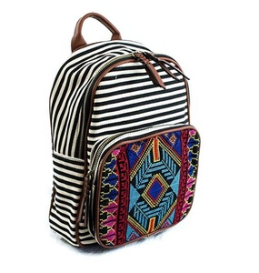CFP B138 Stcoked Embroidery Canvas Women Aztec Backpack