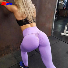 Benutzerdefinierte Hohe Taille Weiche Stretch Scrunch Yoga Hosen Kompression Strumpfhosen Hohe Taille Workout Leggings Sport Sexy Booty Leggings