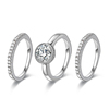 13689 xuping three ring set artificial italiana compromiso con diamantes anillos de plata, white gold wedding rings