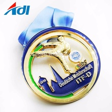 Cheap custom design your own badge race sports medal with medal box