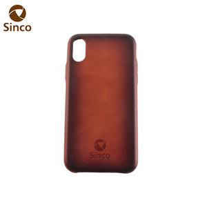 Retro style top selling premium genuine cowhide sprayed leather phone case cell phone cover for iPhone XR