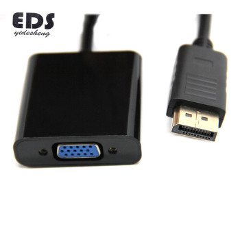 Hot sale male display port DP to VGA female adapter cable