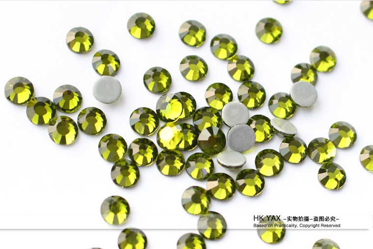 Y0910  Jonquil color SS10 3MM strass hotfix , flat back transfer rhinestones,wholesale crystal iron-on strass transfer