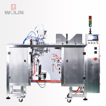 Full automatic premade ziplock standup doypack pouch bag load pick up open fill seal date printer output packing machine powder
