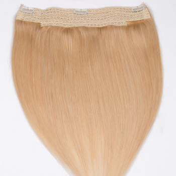 easy fish line secret extensions in golden brown real human hair