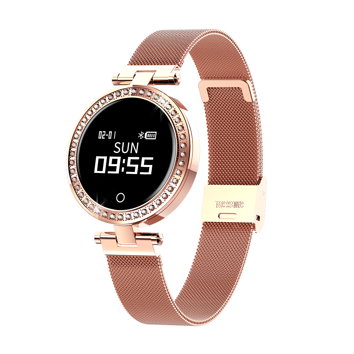 New IP68 24 Hours Continuous Heart Rate <strong>X10</strong> lady Round Smart Watch with Pedometer Blood Pressure Monitor Message Call Reminder