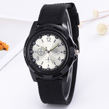Hot sale sergeant wind woven canvas watchband men's and women's watches