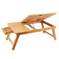 2019 new products adjustable bamboo laptop computer folding desk bed study table for home