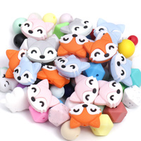 New Design Non-Toxic Colorful Soft Silicone Rubber Bead For Baby And Mother