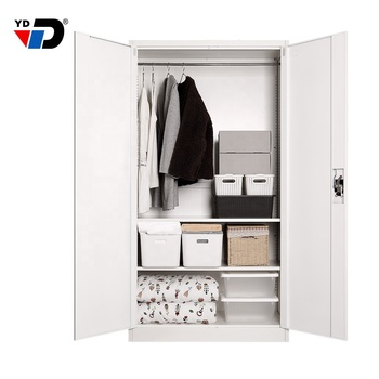 Cheap latest design printing pictures storage clothes furniture steel metal bedroom  door designs wardrobe