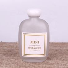 110ml 250ml 350ml Customized <strong>flat</strong> clear frosted Small mouth bottle