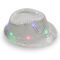 SJ1009 hot sexy new year celebrating colorful shiny sequins festival party led jazz hat