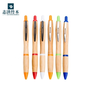 Promotional bamboo ballpoint pen Custom Advertising cheap ball Pen