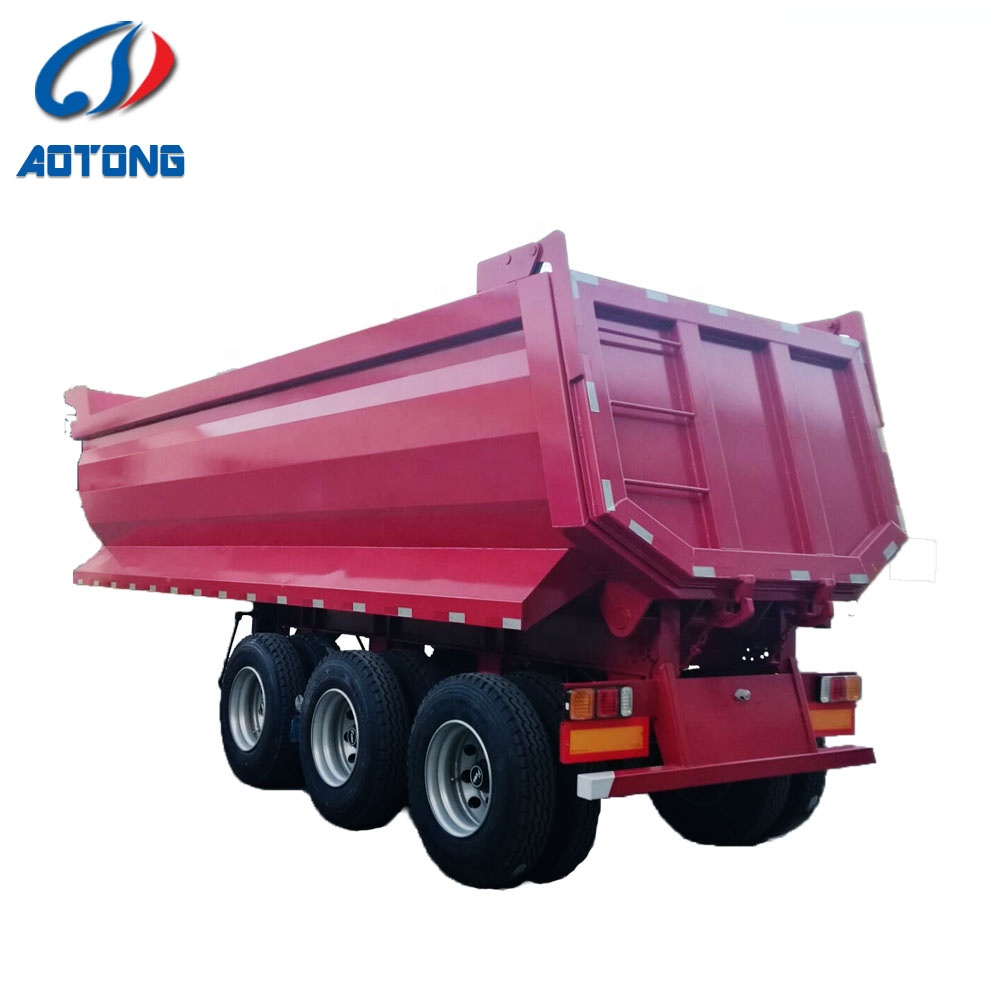 China Factory direct Price 2/3 <strong>Axles</strong> 30-80 Tons Used Truck semi Trailer Price <strong>rear</strong> Hydraulic Dump Trailer without engine