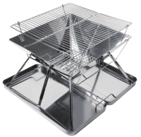 Sanshui debei mini portable charcoal grill stainless steel table bbq grill