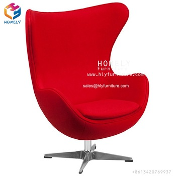 Modern high back swivel fabric leisure egg chair living room chair lounge chair