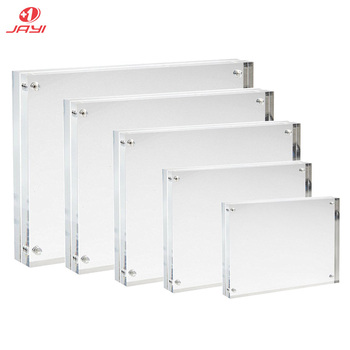 Cheapest Price 4x6 5x7 6x8 8x10 Double Sided Clear Acrylic Picture Magnetic Frames Photo Block