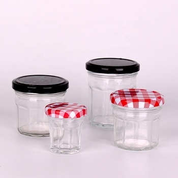 Mini 30ml Polygon  Fancy Glass Honey Jar With Twist off Top Wholesale