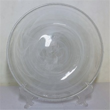 small glass <strong>plate</strong> with white cloudy effect