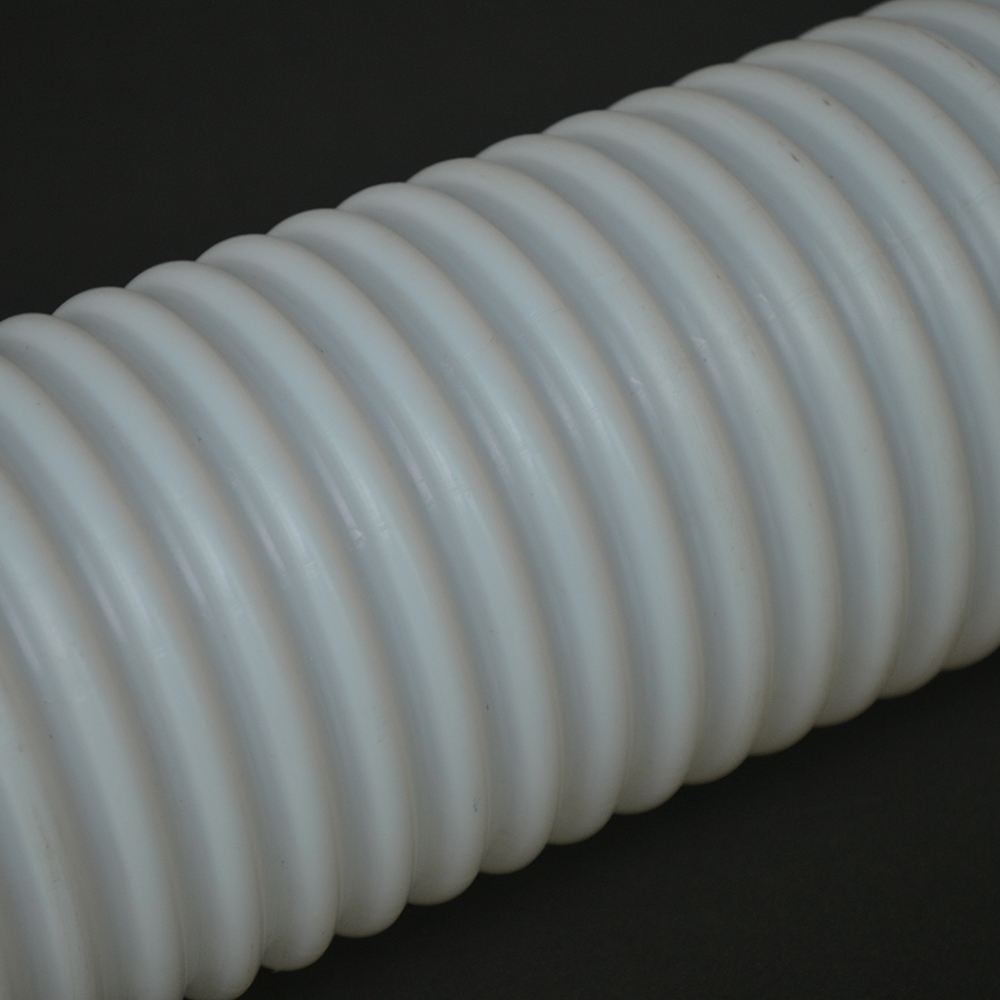 <strong>12</strong> x 14 mm China Natural Clear White Virgin Extruded Teflons Pipe Bellows Corrugated Convoluted PTFE Tube