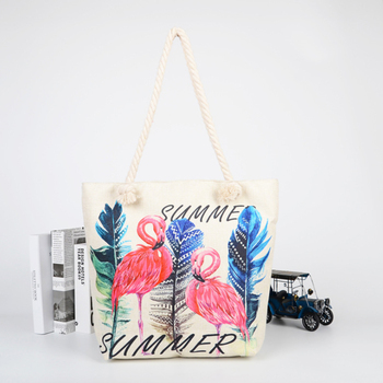 Heavy Duty Cotton Recycle Women Canvas Beach Bag
