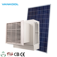 dc 12v 24v solar desert cooler evaporative air cooling system with 8000m3/h airflow and 5090 cooling pad