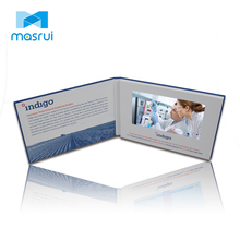 Newest LCD Video Greeting <strong>Card</strong>, Video Brochure with 7'' Screen Cardboard Greeting <strong>Card</strong> for Business Advertising