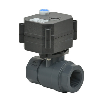 2 way mini  3/4'' PVC true union electric control ball  ball valve without thread