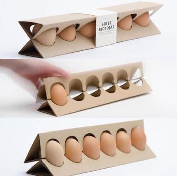 New Design Recycle Corrugated Paper Egg Tray Creative Package Box 6eggs
