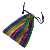 Fashion Glitter Rainbow Colorful Advanced Drawstring Pouch polyester Jewellery Gift Bag